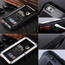 Shockproof Aluminum Glass Metal Case Cover for iPhone 5S 6 & 7 Plus