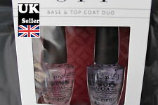 OPI Nail Polish Boxed in PAIR OF Top Coat & Base Coat (perfect for gilt)
