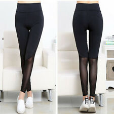 Fashion Womens Yoga Fitness Leggings Gym Stretch Running Pants Trousers Black