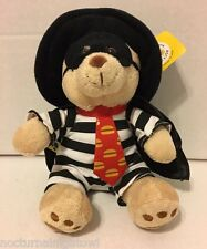 BABW Build-A-Bear Workshop McDonalds HAMBURGLAR Plush Teddy Bear NWT! Free Ship!