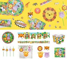 Animal Party Decoration Jungle Birthday Party Tableware Animal Friends Plates