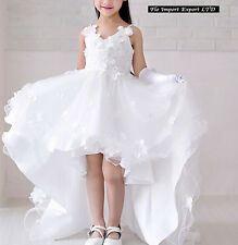 Vestito Bambina 2-15 Anni Cerimonia Comunione Girl Party Princess Dress CDR062