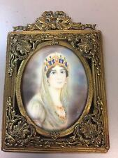 Antique Miniature Portrait of Josefine Painting  Ivory Early 19th C by K. Cappe?