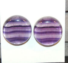 Fluorite Cabochons 18mm with 6mm dome set of 2 (12140)
