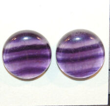 Fluorite Cabochons 18mm with 6mm dome set of 2 (12141)