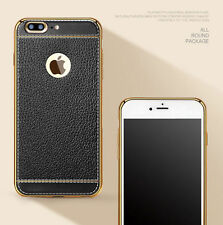 Luxury Slim Ultra-thin PU Leather Soft Phone TPU Case Cover For iPhone