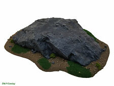 Medium Rocky Outcrop Rural Terrain Base (Wargames Scenery, Warhammer 40K, LotR)