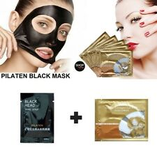 Pair Pilaten Crystal Collagen + Black Mask Blackhead Remover Peel Off Suction
