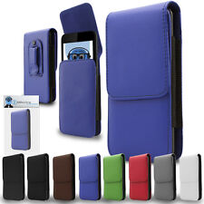 Premium PU Leather Vertical Belt Pouch Holster Case for HTC Desire 310