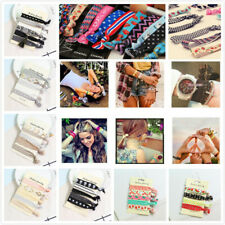 Elastic Knotted Hair Ties Creaseless Ponytails Holder Bands Bracelet-Assorted