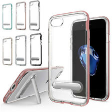 Shockproof Silicone Rubber Clear Bumper Case Cover Stand For iPhone 7