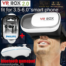 3D VR BOX 2.0 Virtual Reality Glasses Headset With VR Remote.HQ