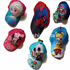 Girls Boys Disney Marvel Character Hat Childrens Kids Sun Peak Summer Cap