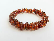 Blatic Amber Bracelet Genuine Handmade Natural Pure Beaded amber beads Elastic