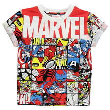 BOYS KIDS CHILDRENS MARVEL AVENGERS COMIC SHORT SLEEVE T-SHIRT SHIRT TOP