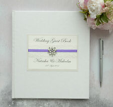 Large Personalised Wedding Guest Book. Vintage Jewel & Lace Guest Book. 88 pages