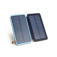 8000mAh Portable 4W Solar Dual USB Battery Charger LED Power Bank For Smartphone