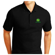 JOHN DEERE logo EMBROIDERED POLO SHIRT FRUIT OF THE LOOM Birthday Gift