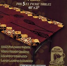 "Hawaiian Fitted Picnic Tablecloth Fits 5ft 60x27"" picnic table Luau party event"