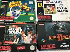 Super Nintendo Games SNES Boxed Cartridge Game Collection