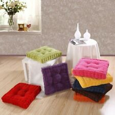 SunnyRain Thick Corduroy Elastic Chair Cushions For Kitchen Chair Solid Color Se