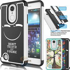 Shockproof Hybrid Rubber Defender Case Cover for LG Aristo / LV3 / LG K8 2017