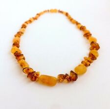 GENUINE AMBER NECKLACE Raw/Polished 18/20 inch Natural Handmade beads