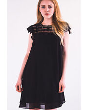 Black Peach Organza Mesh Chiffon Floral Gold Chain Embellishment Dress