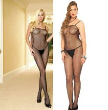 Leg Avenue, Seamless Spaghetti Strapped Fishnet Bodystocking, Sexy Lingerie