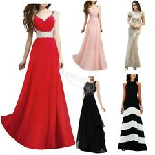 Ladies Formal Long Prom Maxi Dress Evening Ball Gown Bridesmaid Party Size S-3XL
