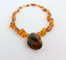 BALTIC AMBER NECKLACE Polished 18 inch Green/Cognac/Honey color Natural Genuine