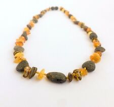 BALTIC AMBER NECKLACE Raw/polished Grey/honey/cognac Natural Genuine Amber beads