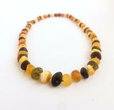 RAW AMBER NECKLACE Genuine Unpolished Baroque Handmade beads Pure amber