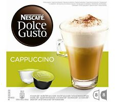 NESCAFE Dolce Gusto Cappuccino Capacity Pack of 8 Dolce Gusto Pod Machines New
