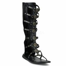 Funtasma by Pleaser ROMAN-15 Roman Gladiator Sandal Men's Black Pu