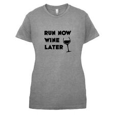 Run Ahora Vino Later - Mujer / Camiseta Mujer - alcohol/Fitness - 14 Colores