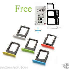 Micro SIM Card Sim Slot Tray HOLDER For iPhone 5C (Free Sim adapter worth 99 )