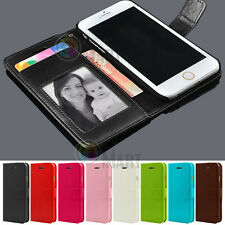 For Apple iPhone SE 5 5S Leather Flip Cover Credit Card Wallet Case Sk