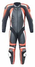 RST Pro Series CPX-C II 2 - 1PC Leather Motorcycle Race Suit - Black/Fluro Red