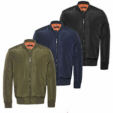 Mens Army MA1 Biker Bomber Military Fly Security Harrington Jacket Coat S M L XL