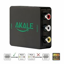Akale HDMI to AV RCA Composite Converter Adapter 1080P Support PAL/