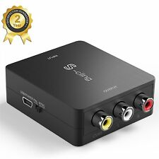 S-ciing HDMI To RCA AV CVBS Composite Audio Video Converter Adapter