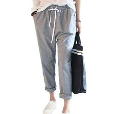 2016 Summer New Fashion Casual Pants Female Elastic Waisted Trousers Stripe Hare