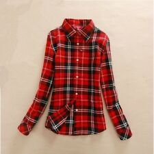 2017 Hot Sale Autumn Winter Ladies Female Casual Cotton Lapel Long-Sleeve Plaid