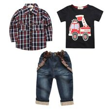 ST257 2016 children's clothing for baby spring sleeve print suit Long plaid shir