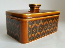 Vintage Hornsea Brown Heirloom Lidded Butter Dish, Designed by John Clappison
