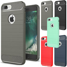 For iPhone 7 Plus Hybrid Rubber Slim Shockproof Silicone Soft TPU Cove