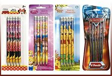 Disney Character Led Pencils, Pens and Pencils, Princess, Cars, Winnie the Pooh,
