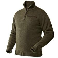Seeland Odell Windbeater Jersey Half Zip Jumper Green Brown, Olive or Grey