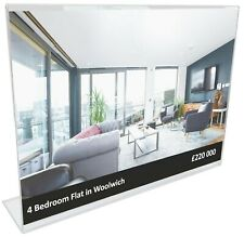 L-shaped Acrylic Poster Menu Holder Perspex Leaflet Display Stands A3 A4 A5 A6